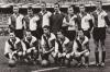 1961-1962 - Achter: Kerkum, Kreijermaat, Klaassens, Graafland, Bergholtz, Veldhoen, Kraaij - Voor Schouten, Bennaars, Van der Gijp, Bouwmeester, Moulijn